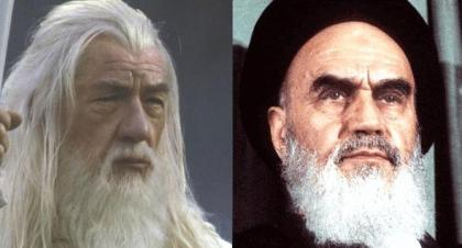 "Gandalf from ""The Lord of the Rings"" and Imam Khomeini"